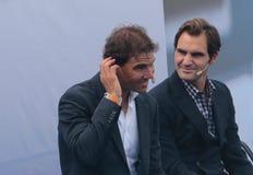 Rafa Nadal και του Roger Federer Στοκ φωτογραφίες με δικαίωμα ελεύθερης χρήσης