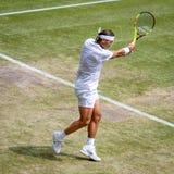 Rafa Nadal at Wimbledon royalty free stock images