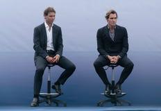 Rafa Nadal och Roger Federer Royaltyfri Bild
