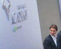 Rafa Nadal på Nadal Academy royaltyfria bilder