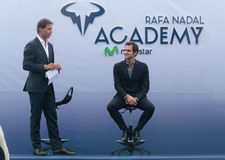 Rafa Nadal and Roger Federer at the Nadal´s Academy opening Royalty Free Stock Photo