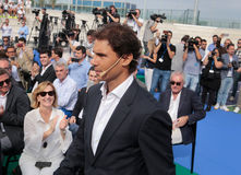 Rafa Nadal. Tennis Player Rafa Nadal arrives to the opening ceremony of the Rafa Nadal International Tennis Academy in Manacor, Nadal´s birthplace, in the Stock Images