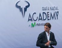 Rafa Nadal. Tennis Player Rafa Nadal arrives to the opening ceremony of the Rafa Nadal International Tennis Academy in Manacor, Nadal´s birthplace, in the Stock Photography