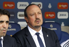 Rafael Benitez-Manager von Real Madrid Stockfotos