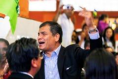 Rafael Correa, de President van Ecuador Royalty-vrije Stock Afbeeldingen