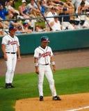 Rafael Furcal, campo corto de los Atlanta Braves Imagen de archivo