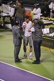 Rafael Nadal at the ATP Tennis stock photo
