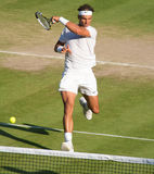 Rafael Nadal au tennis de Wimbledon Photo stock