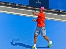 Rafael Nadal bawić się w australianie open Obrazy Royalty Free