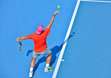 Rafael Nadal bawić się w australianie open Zdjęcie Stock