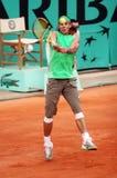Rafael Nadal della Spagna a Roland Garros 2008 immagini stock