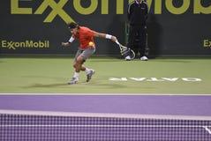 Rafael Nadal en el tenis del ATP Foto de archivo libre de regalías