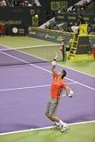 Rafael Nadal en el tenis del ATP Fotografía de archivo libre de regalías