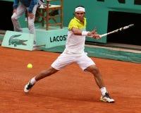 Rafael Nadal en Roland Garros 2009 Fotos de archivo libres de regalías