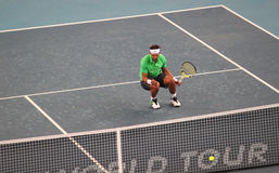 Rafael Nadal (ESP) celebrates victory Royalty Free Stock Photo