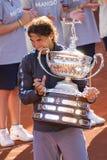 Rafael Nadal met trofee Royalty-vrije Stock Afbeelding