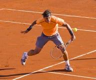 Rafael Nadal na ação Imagens de Stock Royalty Free