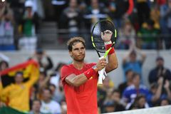 Rafael Nadal playing tenni royalty free stock photos
