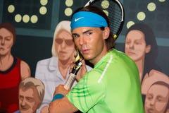 Rafael Nadal preparing to play Royalty Free Stock Photos