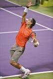 Rafael Nadal a tennis del trifosfato di adenosina Fotografie Stock