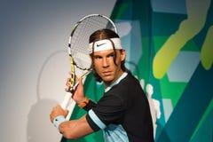 Rafael Nadal vaxdiagram på museet för madam Tussauds royaltyfri fotografi