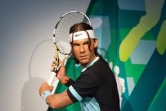 Rafael Nadal wax figure at Madame Tussauds museum royalty free stock photography
