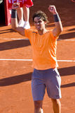 Rafael Nadal wins the match Stock Photography
