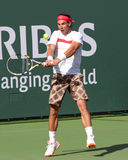 Rafael (Rafa) Nadal at the 2010 BNP Paribas Open Royalty Free Stock Photo