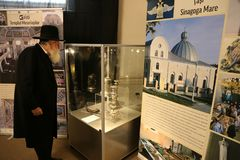 Rafael Shaffer - chief Rabbi of Jews in Romania. At Temple and Synagogue exhibition in Romania from History Museum of Romania, february 2018 Royalty Free Stock Image