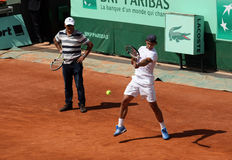 Rafael and Tony Nadal (ESP) at Roland Garros 2011 Royalty Free Stock Photos