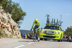 Rafal Majka, индивидуальная проба времени - Тур-де-Франс 2016 Стоковое фото RF