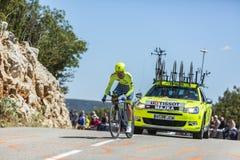 Rafal Majka, experimentação individual do tempo - Tour de France 2016 Foto de Stock Royalty Free