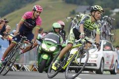 Rafal Majka and Ruben Plaza Tour de France 2015 Stock Photography