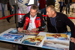 Rafal Sonik at the Warsaw Moto Show 2015 in the Warsaw Expo Stock Photos