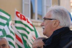 Raffaele Bonanni, italian union leader royalty free stock image