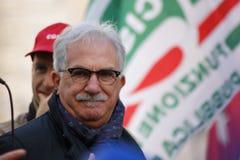 Raffaele Bonannni, итальянский профсоюзный руководитель CISL Стоковое фото RF