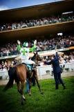 Raffaele Romano op Sharstar wint Forst Merano royalty-vrije stock fotografie