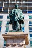 Raffaele Rubattino statua w Genova fotografia royalty free