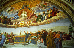 Raffaello Sanzio: Disputation of the Holy Sacrament, Vatican Stock Image
