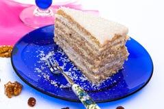 Raffaello slice. Delicious Raffaello slice from Hungary Royalty Free Stock Photos