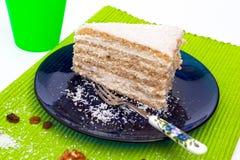 Raffaello slice. Delicious Raffaello slice from Hungary Stock Photography