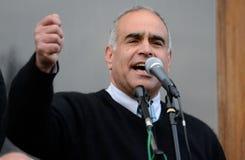 Raffi Hovhannisyan, zum von Demonstrationen in den Regionen fortzusetzen Lizenzfreies Stockfoto