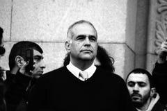 Raffi Hovhannisyan, zum von Demonstrationen in den Regionen fortzusetzen Lizenzfreie Stockfotografie