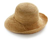 Raffia hat Royalty Free Stock Photography