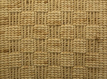 Raffia rug, Backgrounds. Raffia backgrounds, texture yellow, horizontal position Stock Image