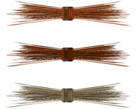 Raffia Straw Bows for Autumn Stock Image