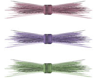 Raffia Straw Bows for Spring Royalty Free Stock Images