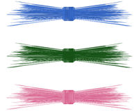Raffia Straw Bows for Summer royalty free stock photography