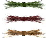 Raffia Straw Bows for Winter Royalty Free Stock Image