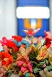 Raffiabast-Blumenstrauß Stockfotografie